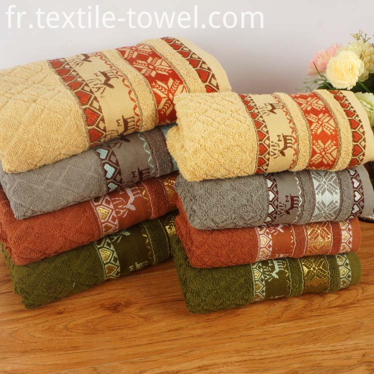 Patterned Bath Towels