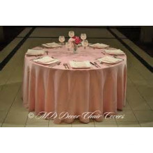 llano de barato y de alta calidad estilo mantel de tela del satén / recubrimiento / Hotel de banquete de boda