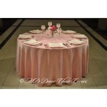 planície de barato e de alta qualidade com estilo tampa de tabela de tecido de cetim / sobreposição / para o hotel do banquete de casamento