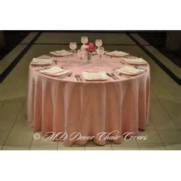 plaine de bon marché et de haute qualité de style satin housse de table / superposition / pour hotel banquet mariage