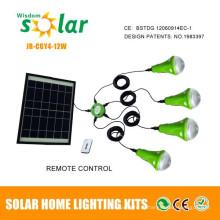 Portátil mini luz solares kits para iluminação em casa, kits de mini iluminação interna com CE
