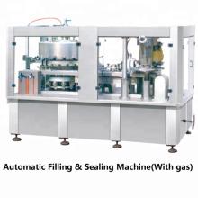 Máquina de llenado automática de latas de cerveza Las bebidas carbonatadas pueden llenar la máquina de sellado