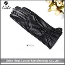 Baratos e de alta qualidade Luvas de couro personalizado das mulheres