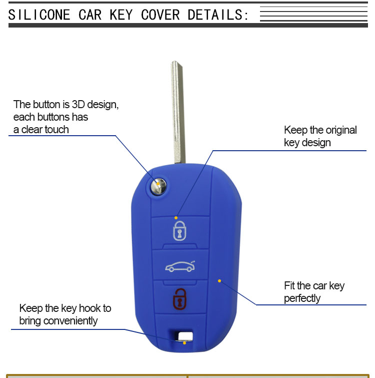 Peugeot Key Cover Detail