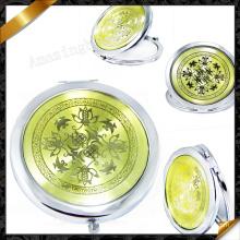 Espejos de doble cara con aleación plateada, espejo de maquillaje elegante (MW014)