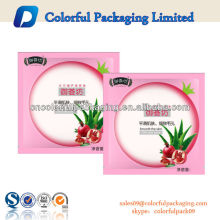 Printed Logo Plastic Foil Cosmetic Facial Mask Packaging Bags