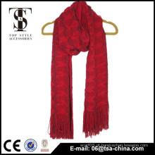 China novo produto fantasia acrílico tricotado cachecol menina de inverno