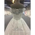 Mais recente Nupcial A Line Atacado Off Shoulder Design Wedding Dresses