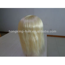 100 девственницы человеческих волос Remy волос полный парики шелковый база