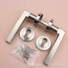 Levier en acier inoxydable 304 sur poignée de porte rose avec escucheon fileté