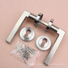 Нержавеющая сталь 304 рычаг на двери розовая ручка с резьбовым escucheon