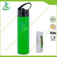 600ml BPA freie Silikon faltbare und zusammenklappbare Wasser-Flasche, Sport-Wasser-Flasche, weiche Wasser-Flasche
