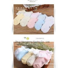 Calcetines de algodón muy de moda encaje chica colorida