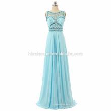Женщин без рукавов вечернее длинное платье 2017 длина пола тяжелое вышитый бисером выпускного вечера выпускные платья оптом