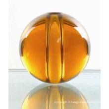 Boule colorée en cristal avec trou (JD-SJQ-003)