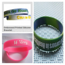 Fashionable Embossed Silicone Rubber Wristband