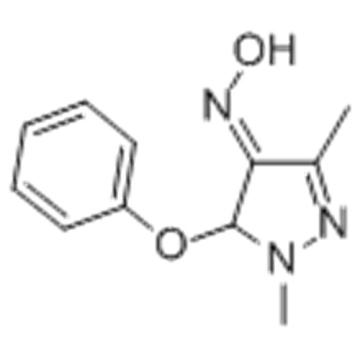 Pyrazole-1,3-dimethyl-5-phenoxy-4-carboxaldehyde oxime CAS 110035-28-4