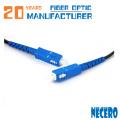Cable de cable de parche LC de banda ancha de cable de fibra óptica de 3 mm