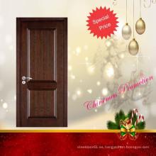 Diseño de puerta de chapa de madera de teca promoción Navidad