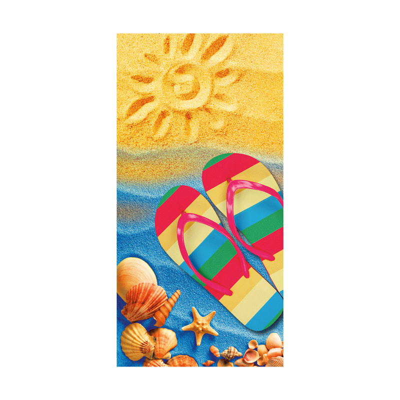 Rectangle Kids Cartoon Pattern Digital Printing Beach Towel