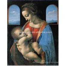 Decoración del Hogar Pintura del retrato del amor de madre en lona