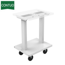 Height Adjustable Hospital Food Over Bed Table With Wheel