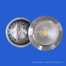 Nouveau AR111 COB 10w conduit spot downlight 12V / 220V