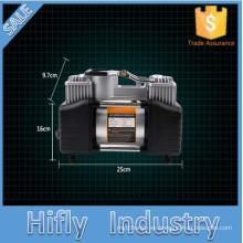 HF-5060B Hot DC12V Mini compresor de aire portátil del coche Bomba del inflador del neumático del coche Bomba del inflador del compresor de aire del doble cilindro (CE)