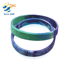 Cheap Multicolor Debossed Silicone Custom Bracelet Rubber