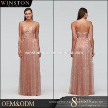 2015 Novo design de alta qualidade China Factory Made front split evening dress
