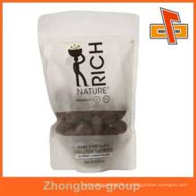 2015 Высокое качество рисовая бумага пищевой упаковки мешок белая молния встать мешок