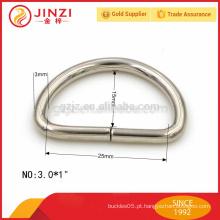 Anel em D de metal de ferro de 3mm de espessura, anel D de 25mm de largura