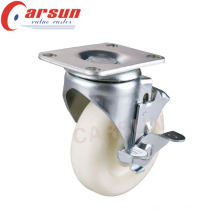 150mm Medium Duty Swivel Nylon Wheel Castor with Side Brake
