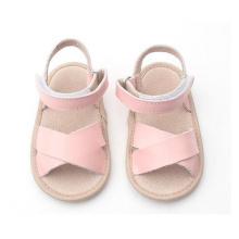 طفل أطفال وردي جلد طبيعي أحذية صنادل
