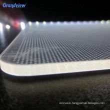 Round shape LED illuminated PMMA light guide panel