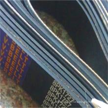 Cinturón de caucho con múltiples cuñas / Cinturón acanalado de caucho
