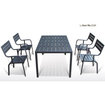Hot sale Outdoor All Weather carved wood table and chairs