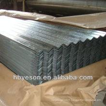 Tôle ondulée en acier galvanisé à chaud