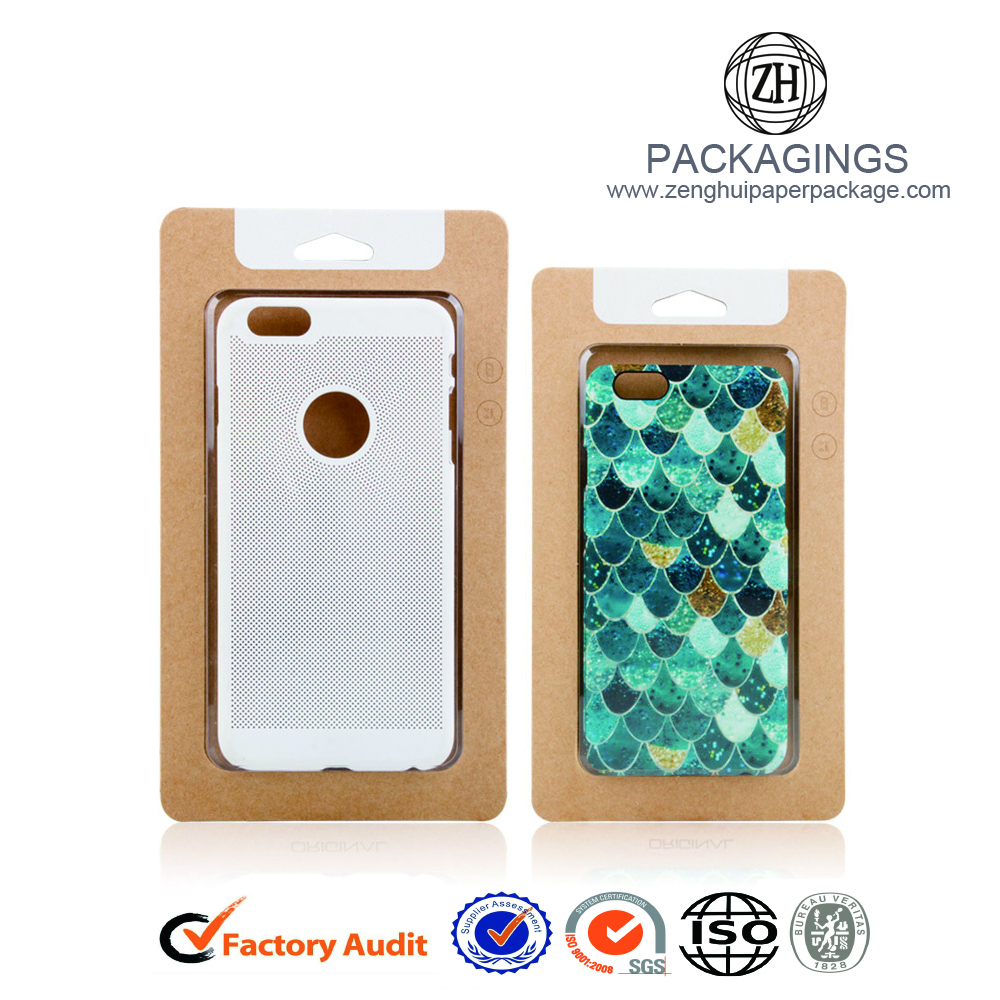 Promotional kraft paper cell phone case box packaging