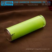 Haut et lisse de chaud-vendeur ZB-PS30 30 ml brillant 1oz tour flacon pompe airless acrylique