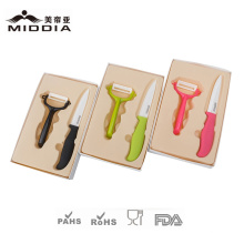 Ceramic Fruit Knife Set with Gift Box Packaging for Kitchen Implement
