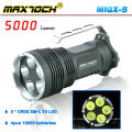Maxtoch MI6X-5 XML T6 5000 Lumen poignée 5 * Cree LED lampe de poche chasse