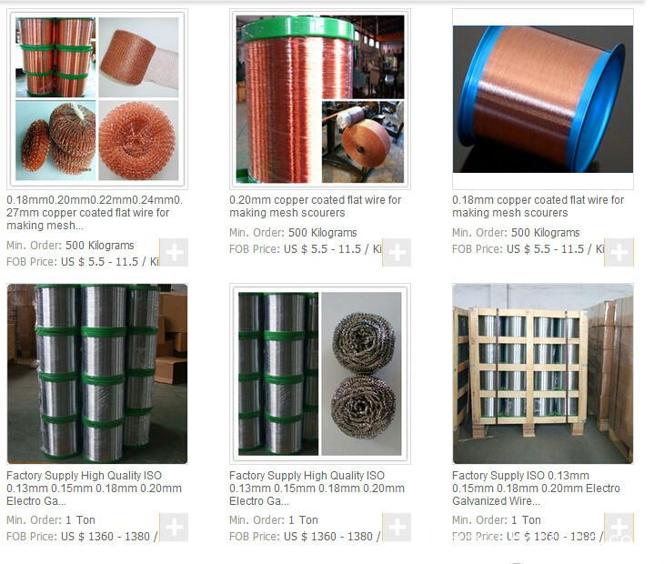 Metal scrubber wire 0.20mm-Price list