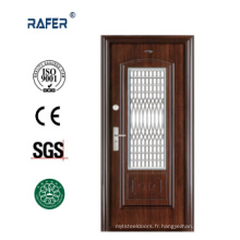 Porte en acier dans porte / porte en acier avec fenêtre (RA-S104)