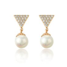 96068 Xuping Nueva Moda Lady 18K Oro Perla Gota Pendiente de la joyería