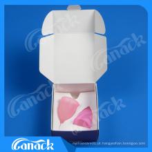 Sexo senhora silicone menstrual copo