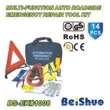 Kit de primeros auxilios de emergencia de 14 piezas para coche