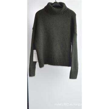 50% Lana de Cordero 50% Nylon Knit Puullover suéter para las damas