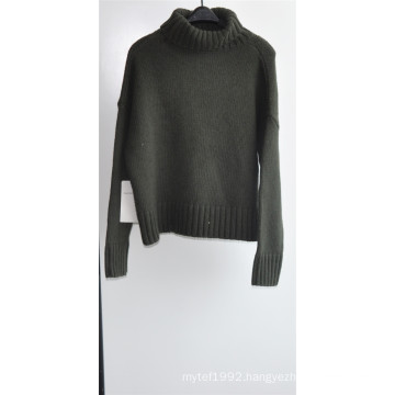 50%Lamb Wool 50%Nylon Knit Puullover Sweater for Ladies
