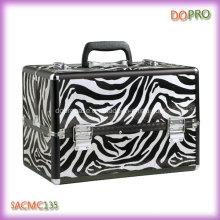 Hot Zebra Pattern Large Volume Suitcase for Professional Makeup (SACMC135)